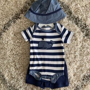 Starting Out 3 M Set WIth Onesie, Shorts and Hat